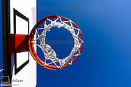 Basketball Korb auf Parkplatz, nahe Rijeka, Kroatien