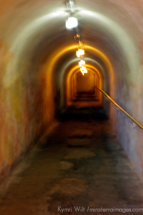 USA, Puerto Rico, San Juan. one of the tunnels at San Cristobal Fort in Puerto Rico.