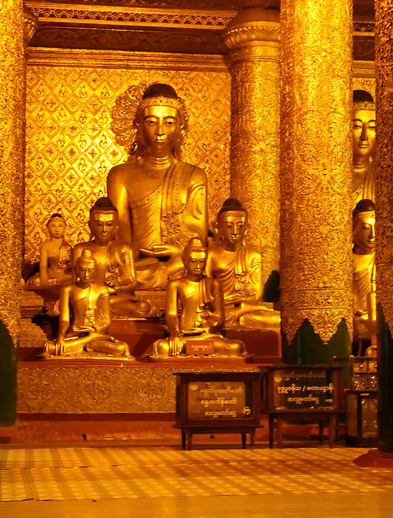 Shwedagon Pagoda, Yangon, Myanmar.