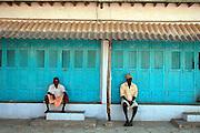 House front in town of Suchindram, near Kanyakumari.