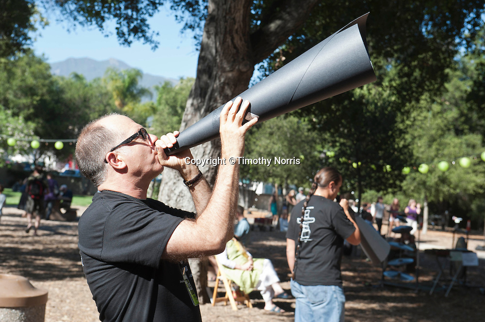 Steven Schick directs the West Coast premiere of Inuksuit at the 66th Ojai Music Festival on June 7, 2012 in Ojai, California.