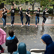 The rain didn't keep local our neighbors from being treated to entertainment and lunch at this year's Tufts.Community Day on the Medford Campus. (Zara Tzanev for Tufts University)