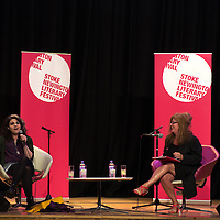 Caitlin Moran and Suzanne Moore<br /> On stage at the Stoke Newington Literary Festival. 9 June 2013<br /> <br /> <br /> Picture by David X Green/Writer Pictures