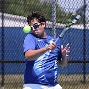 Caesar Rodney Donnan Garelle hit the ball during a DIAA Tennis State final match Tuesday, May. 26, 2015 at UD Field House in Newark, DEL