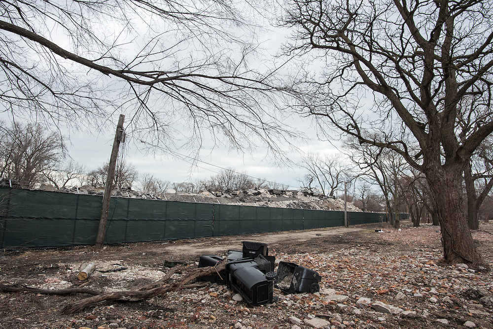 Much of the 84-acres in the neighborhood Norfolk Southern's expansion project area sits have been reduced to rubble.