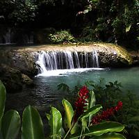 The idyllic tranquility of Cascade Falls, Vila, Vanuatu. Cascade Falls, Vanuatu