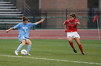 University of North Carolina forward Kealia Ohai takes a shot that resulted in a goal in the 58th minute as Ohio State takes on UNC in the second half of an NCAA women's college soccer game in Columbus, Ohio on Sunday, Sept. 4, 2011, at Jesse Owens Memorial Stadium.