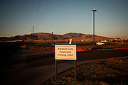 A sign outside the Amazon warehouse in Fernley, Nevada, December 13, 2011. CREDIT: Max Whittaker/Prime for The Wall Street Journal.AMAZONTOWN