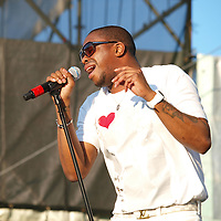 Raheem Devaughn performs at the African American Heritage Festival in Baltimore, MD on July 3, 2009.