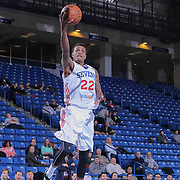 Delaware 87ers Guard Jamal Jones (22) drives towards the basket in the first half of a NBA D-league regular season basketball game between the Delaware 87ers and the Santa Cruz Warriors (Golden State Warriors) Tuesday, Jan. 13, 2015 at The Bob Carpenter Sports Convocation Center in Newark, DEL. Photo By Saquan Stimpson