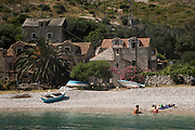 Travel in Croatia<br /> <br /> Dubrovaca beach, which is accessible only by boat. Hvar Island.<br /> <br /> June 2013<br /> Matt Lutton