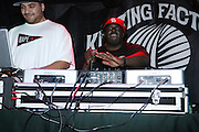 l to r: DJ Cipha and FunkMaster Flex at The Vibe Magazine VIP Celebration for Vibe's December cover featuring the first New York show of Plies, held at The Knitting Factory on November 24, 2008 in NYC