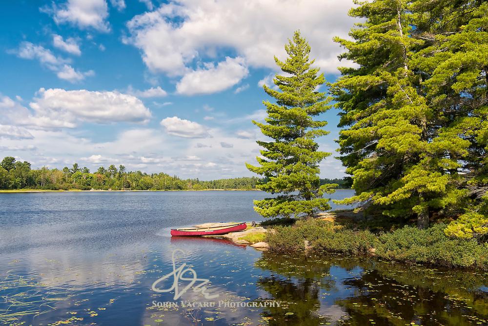 Canoe on Gurd Lake, Ontario