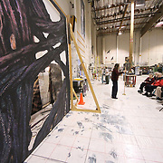 Seattle Opera Insiders' Series: Scenic Elements tour of Scenic Studios. Kitty Kavanaugh, Master Scenic Artist.