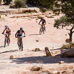 Chris Baddick, Brian Matter and Barry Wicks grind up the Rough Canyon road during Grand Junction Off-Road. Photos by Brian Leddy