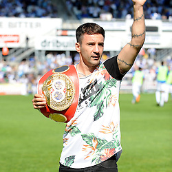 Bristol's boxing champion Lee Haskins - Mandatory byline: Neil Brookman/JMP - 07966386802 - 08/08/2015 - FOOTBALL - Memorial Stadium -Bristol,England - Bristol Rovers v Northampton Town - Sky Bet League Two