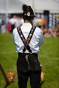 Bavarian Alphornist, Bavaria, Germany