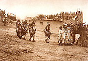 NATIVE AMERICANS E. Curtis photograph, early 20th century, Snake Dancers Entering the Plaza (Hopi)