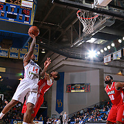 Delaware 87ers Guard SEAN KILPATRICK (14) drives towards the basket as Maine Red Claws Forward MALCOLM MILLER (13) defends in the second half of a NBA D-league regular season basketball game between the Delaware 87ers and the Maine Red Claws  Friday, Feb. 05, 2016 at The Bob Carpenter Sports Convocation Center in Newark, DEL.