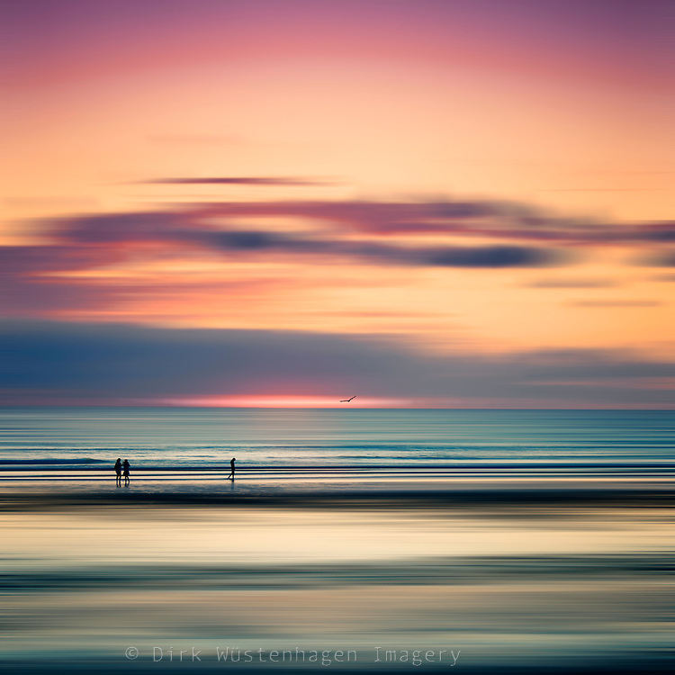 Abstract seascape with people at sunset<br /> REDBUBBLE prints &amp; ,ore: http://rdbl.co/2jxnI7F