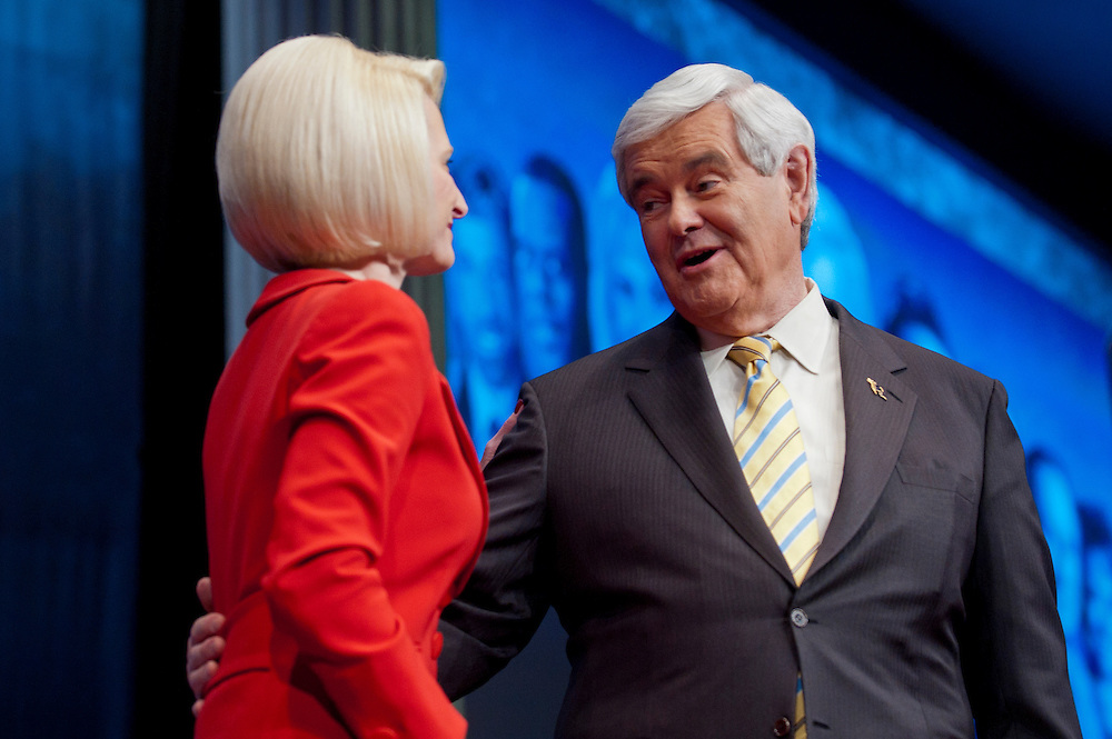 CALLISTA GINGRICH introduces her husband, Former Speaker of the House NEWT GINGRICH at the annual Conservative Political Action Conference (CPAC) in Washington, D.C. on Friday.  CPAC, which began in 1973, attracts more than 10,000 people and The American Conservative Union, which runs it, announced it expected 1,200 members of the media.