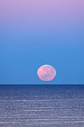 Full moon setting over Cottesloe Beach, Terry Lyon Photography
