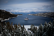 A view of Emerald Bay in Lake Tahoe, Calif., February 28, 2012..