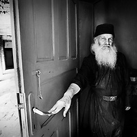 Neamt County, Romania July 2007<br /> Father Macarie, 88 years old.<br /> Photo: Ezequiel Scagnetti