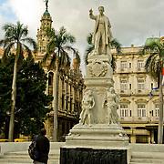 Jose Marti statue in Parque Central in Central Havana, Havana Centro, Habana Centro, Centro Habana, Cuba.