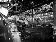 The burnt-out shell of the Stardust nightclub.<br />14 February 1981
