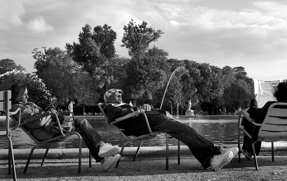 Tullerie Gardens in Paris, France.