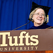 10/21/11-Medford/Somerville, MA - Shirley M. Tilghman, President of Princeton University, speaks during the inauguration ceremony of Tufts University's 13th president, Anthony P. Monaco, on Friday, October 21, 2011.  (Alonso Nichols/Tufts University)