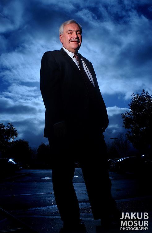 John Bowmer, CEO of Adecco, stands at his office in Redwood City, Calif. on Monday, December 17, 2001..Photo by Jakub Mosur