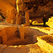 Historic Balcony House, a dwelling of the ancient and long vanished Anasazi people, is well preserved and somewhat stabilized in Mesa Verde NP, CO..Not released.
