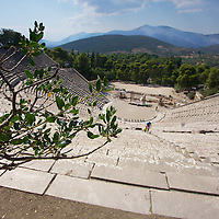 The best preserved open air theatre of the Ancient Greek world: Epidavros. The acoustics are still perfect, and it is used today for modern theatre and concerts - no speakers required. This is a site you have to 'hear' to believe.