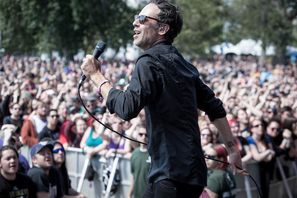 Greg Attonito of Bouncing Souls at Riot Fest 2014