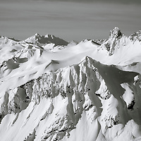 The Coast Mountains of British Columbia challenge outdoor recreation enthusiasts.