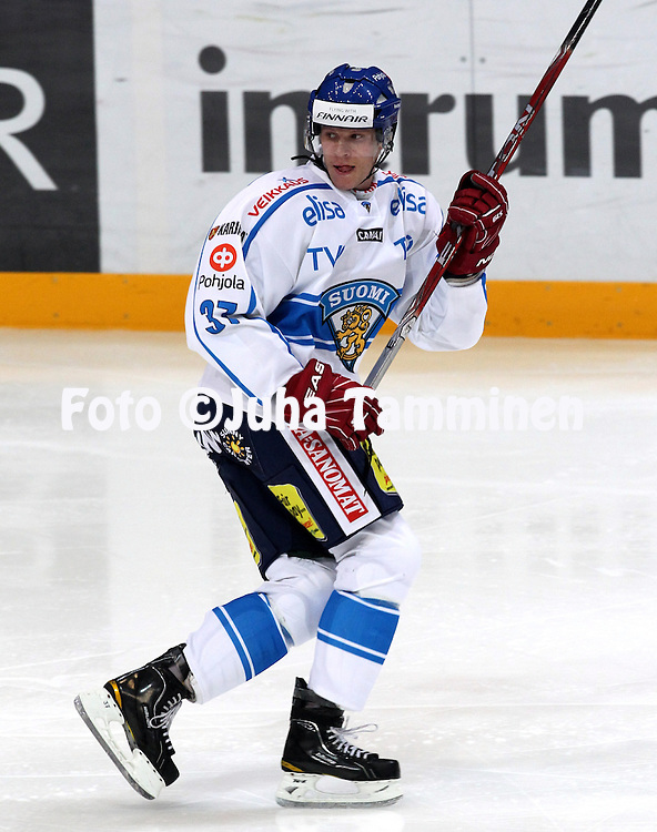 10.11.2011, Hartwall-Areena, Helsinki, Finland..Euro Hockey Tour - Karjala-turnaus 2011. Suomi - Venj / Finland v Russia..Mika Pyrl - Suomi..