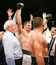 January 19, 2008; New York, NY, USA;  Andrew Golota celebrates after defeating Mike Mollo in their 12 round heavyweight bout at Madison Square Garden in New York, NY.  Golota won the bout via unanimous decision.