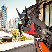 Batman at Comic Con for Red Bull