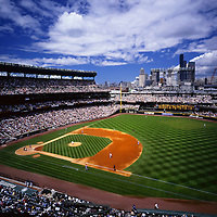 AA01898-02...WASHINGTON - Seattle Mariners playing at Seattle's Safeco Field in 1991, (field now called the Clink).