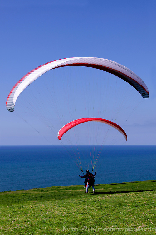 USA, California, San Diego. Torrey Pines Paragliding point.