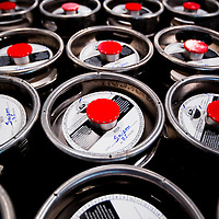 MIAMI, FLORIDA -- July 11, 2015 -- Kegs await transport at the new Biscayne Bay Brewing Company in Miami, Florida.  (PHOTO / CHIP LITHERLAND)