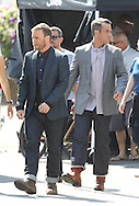 June 22nd, 2010  Los Angeles, CA. ***EXCLUSIVE*** 36-year-old British singer Robbie Williams married Ayda Field, an actress, in front of 75 family members and friends during a romantic ceremony at his Beverly Hills property on August 7th 2010 .<br /> Guests were treated to a sunset reception with champagne and gourmet hors d'ouvres after a brief ceremony and exchange of vows. These recent photos of Ayda Field and Robbie Williams together were snapped on the music video set of &quot;SHAME&quot;. Robbie Williams and Gary Barlow were reunited on the music video set to perform &quot;SHAME&quot;. The two had a falling out 15 years ago with their band &quot;Take That&quot; in which Williams was asked to leave the band. It is not known if Gary Barlow was invited to the wedding. Photos by Eric Ford/On Location News 818-613-3955 info@onlocationnews.com