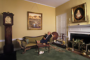 Portrait of Mrs. Montgomery M. Green in the parlour of her home at Sion Hill, Havre de Grace, Md. USA