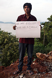 Ranjay Bhattacharyya - 19 yrs.Assam.Hindu .Law Student.'We are evolved. Give us a chance.'