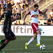New York Red Bulls Midfielder SACHA KLJESTAN (16) scores in the first half of a Major League Soccer match between the Philadelphia Union and New York Red Bulls Sunday, July. 17, 2016 at Talen Energy Stadium in Chester, PA.