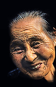 Image of a smiling elderly woman in Shingu, Japan