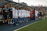 Aston Villa FC reserves stand for the national anthems before a match against the  Philadelphia Union at PPL Park in Chester, Pennsylvania, USA on Wednesday July 18, 2012. (photo - Mat Boyle)