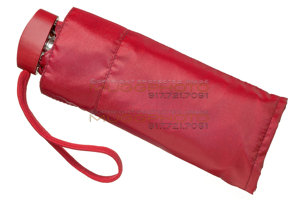 red umbrella in case by rainbow